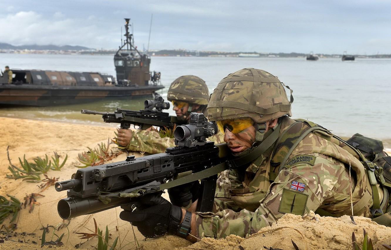 Wallpaper Camouflage Sa80 Heckler Amp Koch Ag 36 Royal Marines