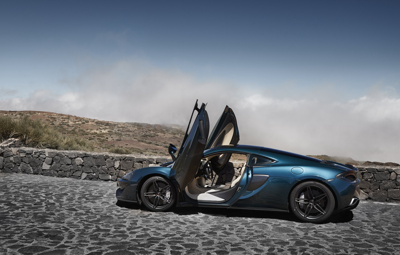 Photo wallpaper car, machine, McLaren, door, supercar, supercar, open, McLaren, 570GT