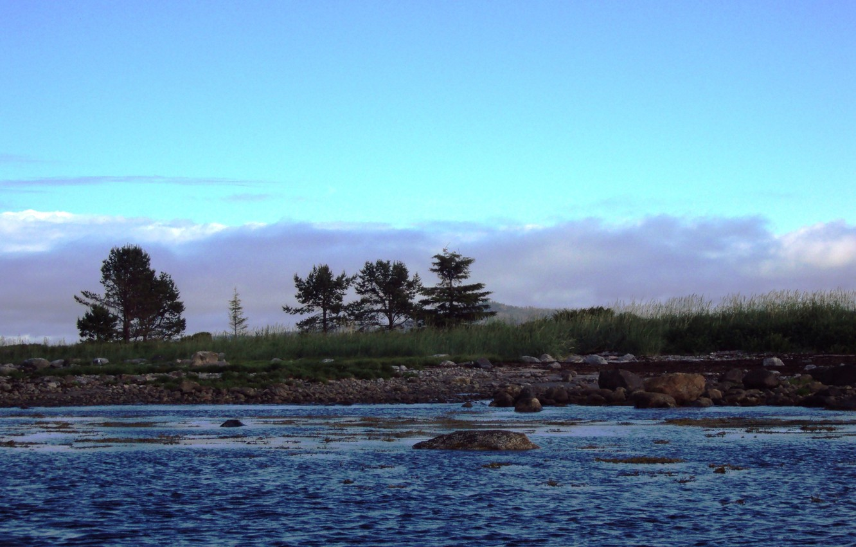 Photo wallpaper water, clouds, Sea