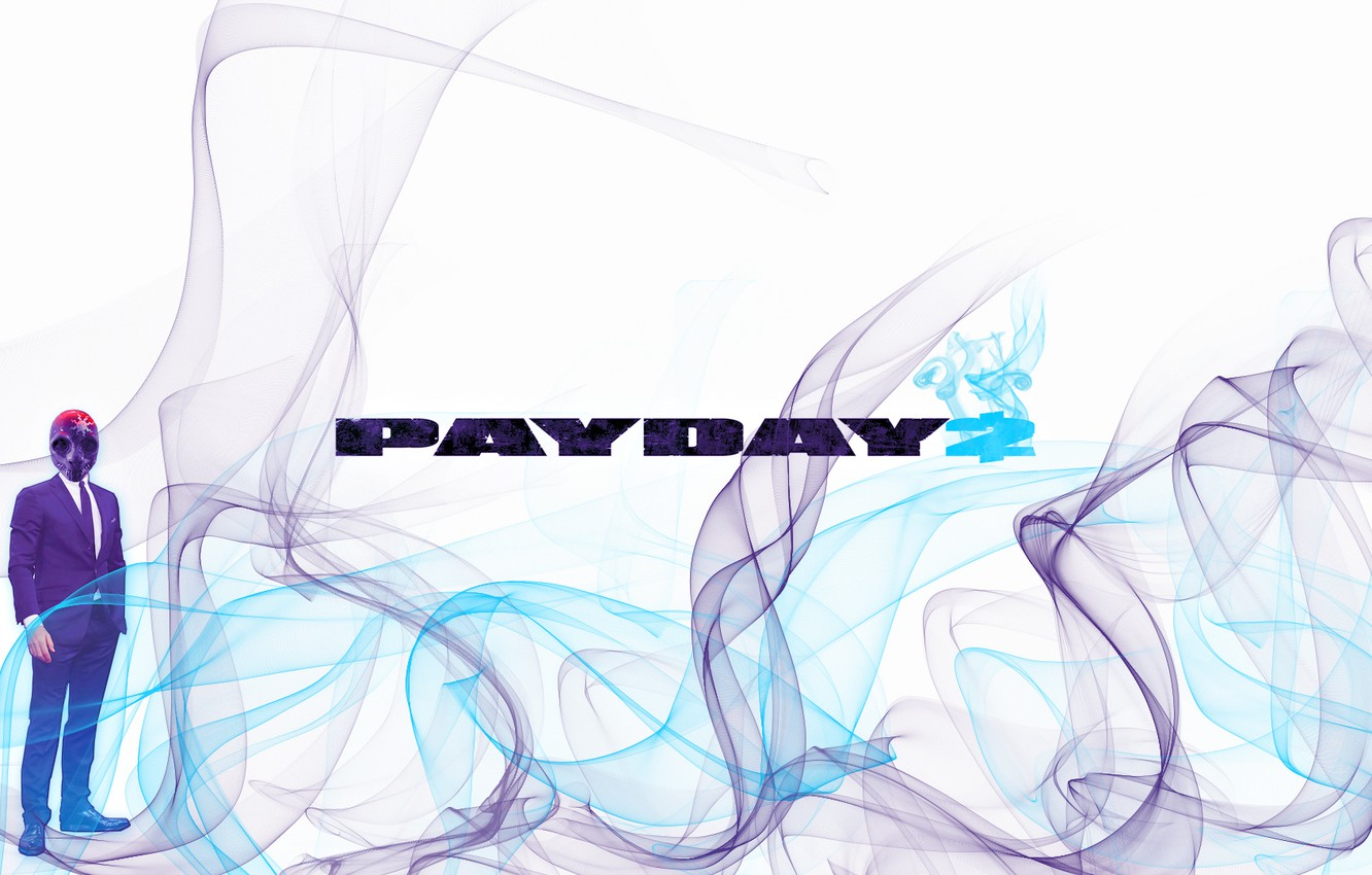 Photo wallpaper mask, overkill, Payday 2, Payday, PAYDAY
