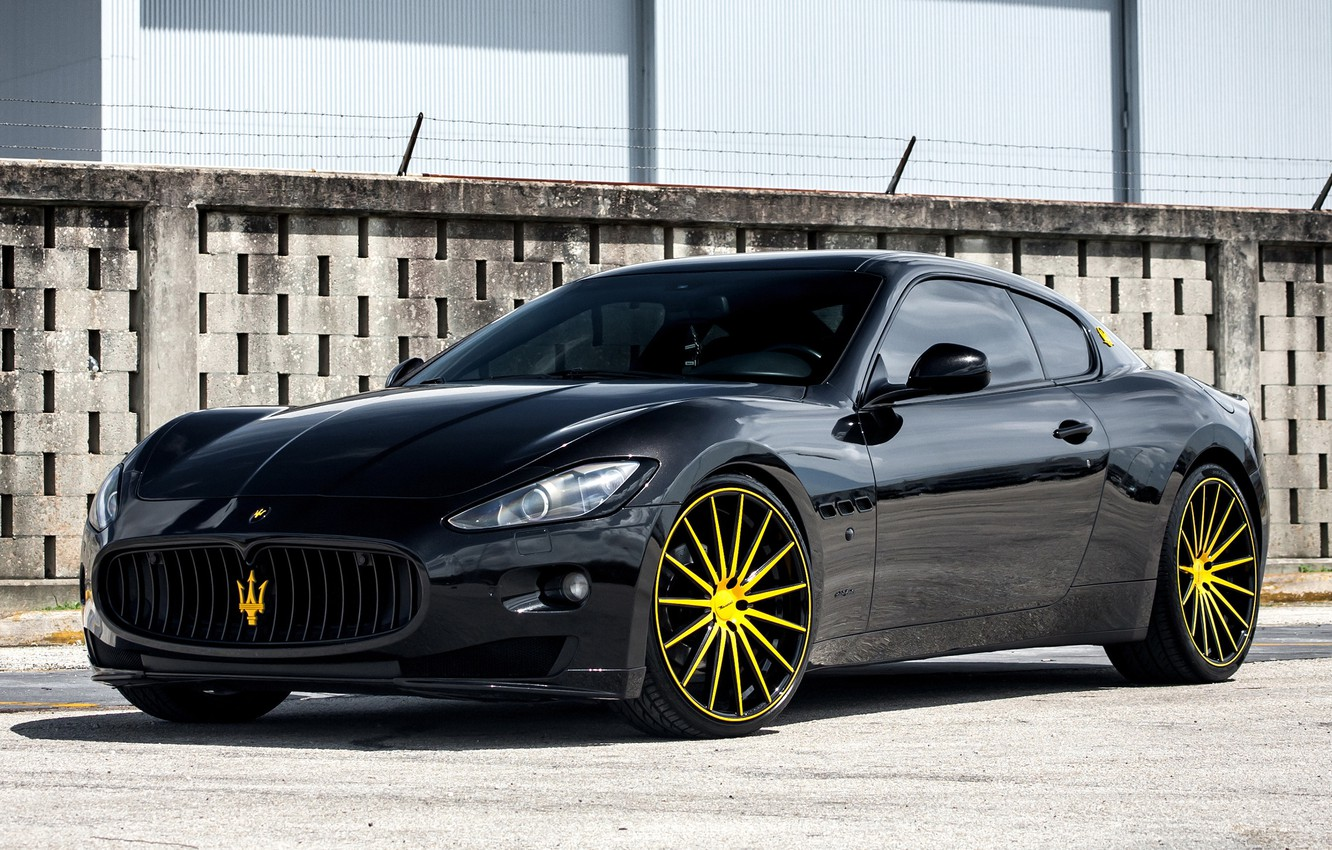 Photo wallpaper Maserati, GranTurismo, Vossen, VFS2, wheels.