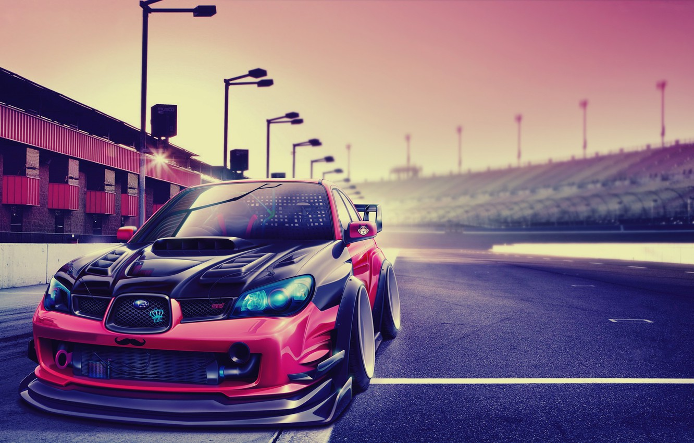 Photo wallpaper tuning, subaru impreza, Subaru Impreza, render