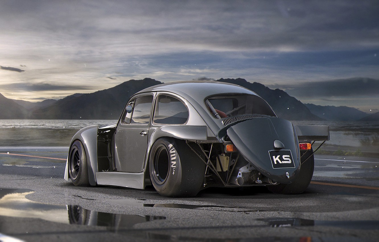Photo wallpaper Volkswagen, Car, Old, Beetle, Tuning, Future, DRAG, by Khyzyl Saleem