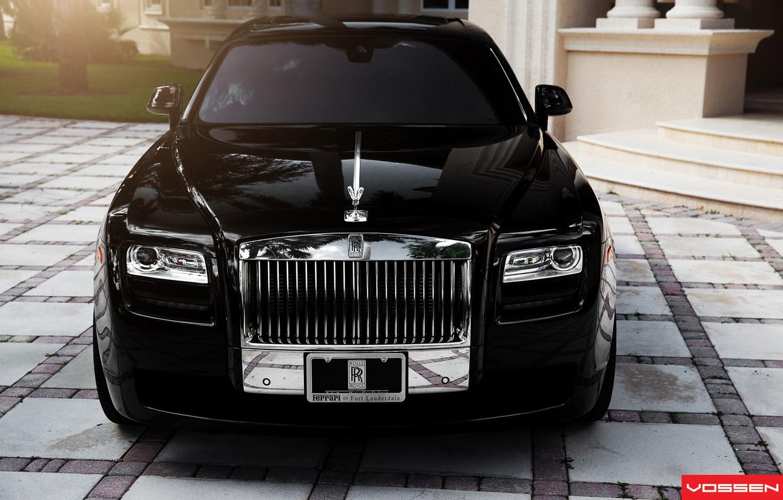 Photo wallpaper Rolls Royce, Ghost, the front, Vossen Wheels