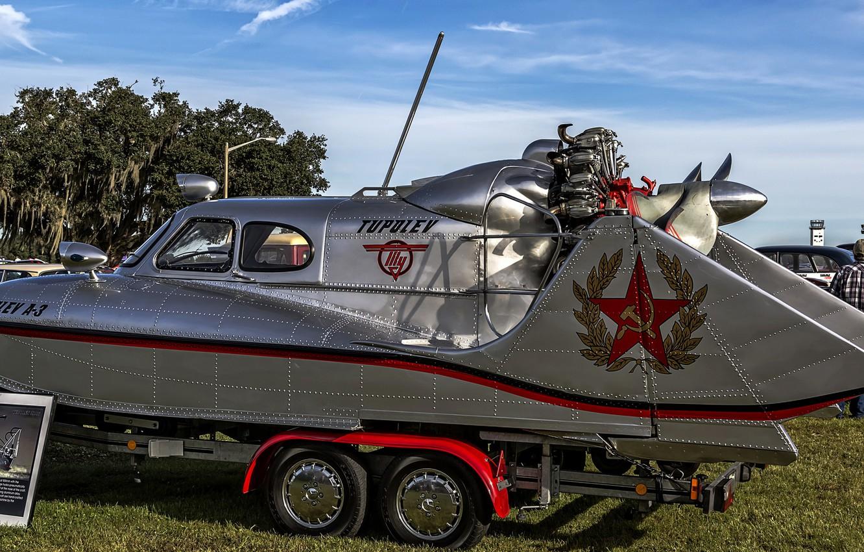 Photo wallpaper boat, The Tupolev A-3, Snowmobile amphibious As-3