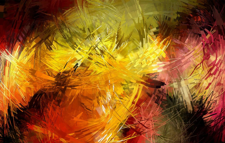 Photo wallpaper line, color, strokes
