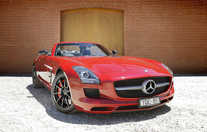 Photo wallpaper Mercedes, Benz, SLS