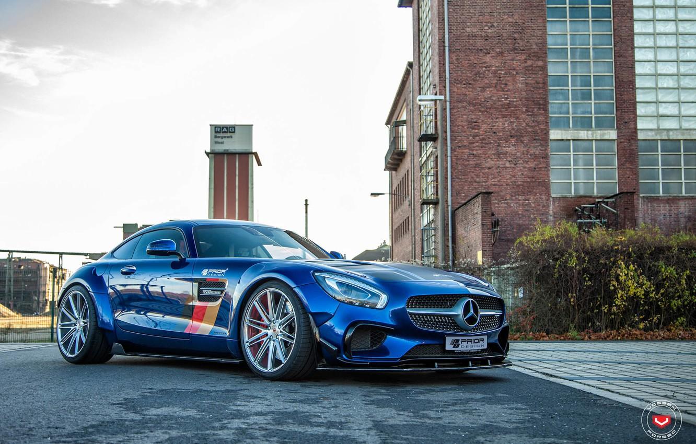 Photo wallpaper Mercedes-Benz, AMG, Prior Design, GTS, Vossen, Wheels