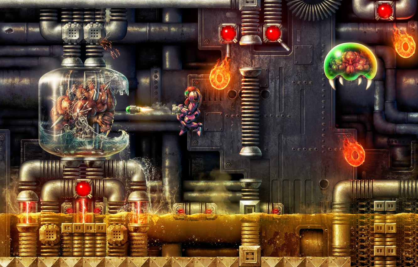 Photo wallpaper skill, high, quality, digital, Amazing, clarity, Super Metroid - Depths of Tourian