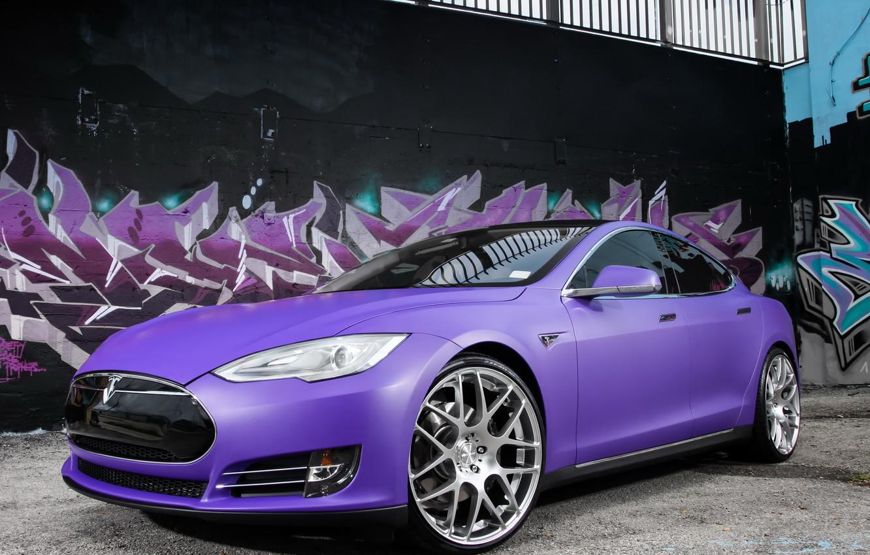 Photo wallpaper car, Tesla, Model S, P85