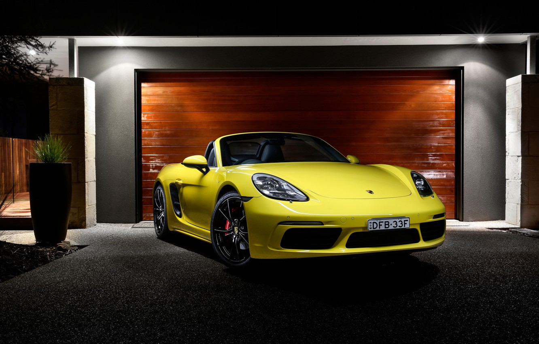 Photo wallpaper Porsche, Roadster, Porsche, Boxster, bokster, 718