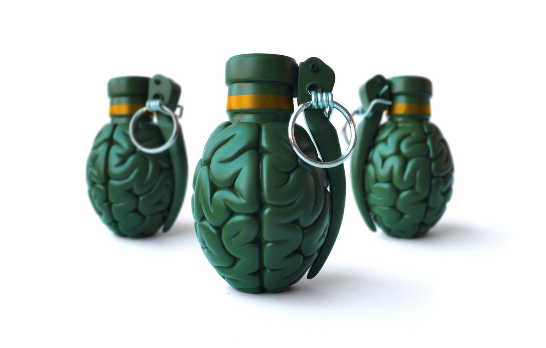 Photo wallpaper ring, brains, grenades, pineapples