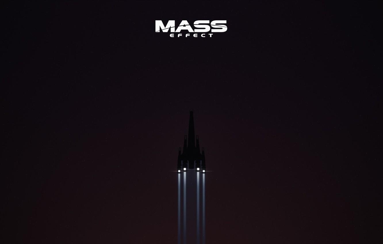 Photo wallpaper space, Mass Effect, stars, Normandy