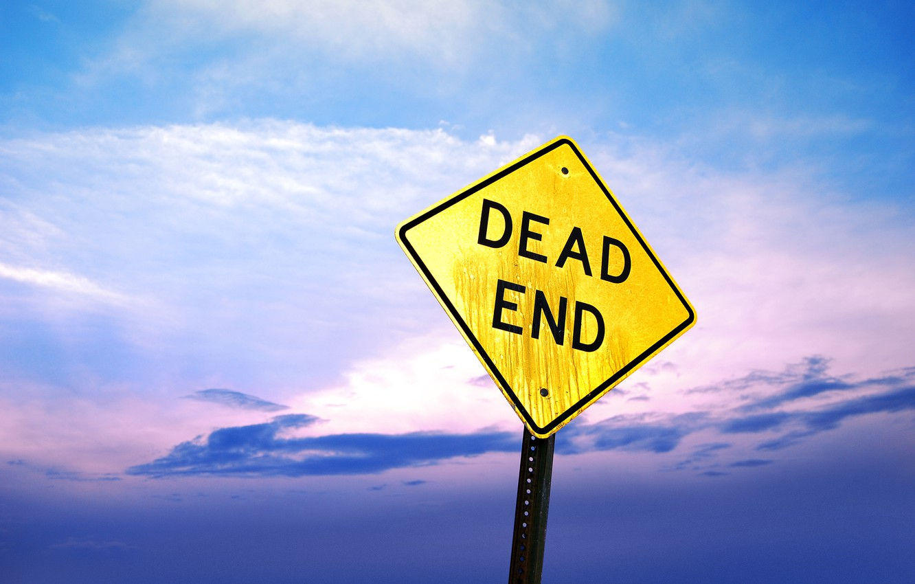 Photo wallpaper the sky, sign, stalled, dead end
