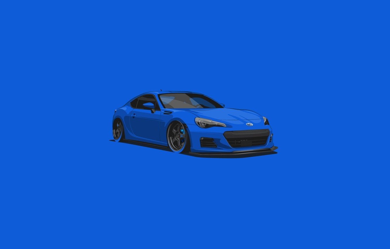 Photo wallpaper Subaru, Car, Blue, BRZ, Minimalistic
