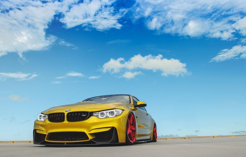 Photo wallpaper BMW, Red, Sky, Wheels, Incurve, LP-5