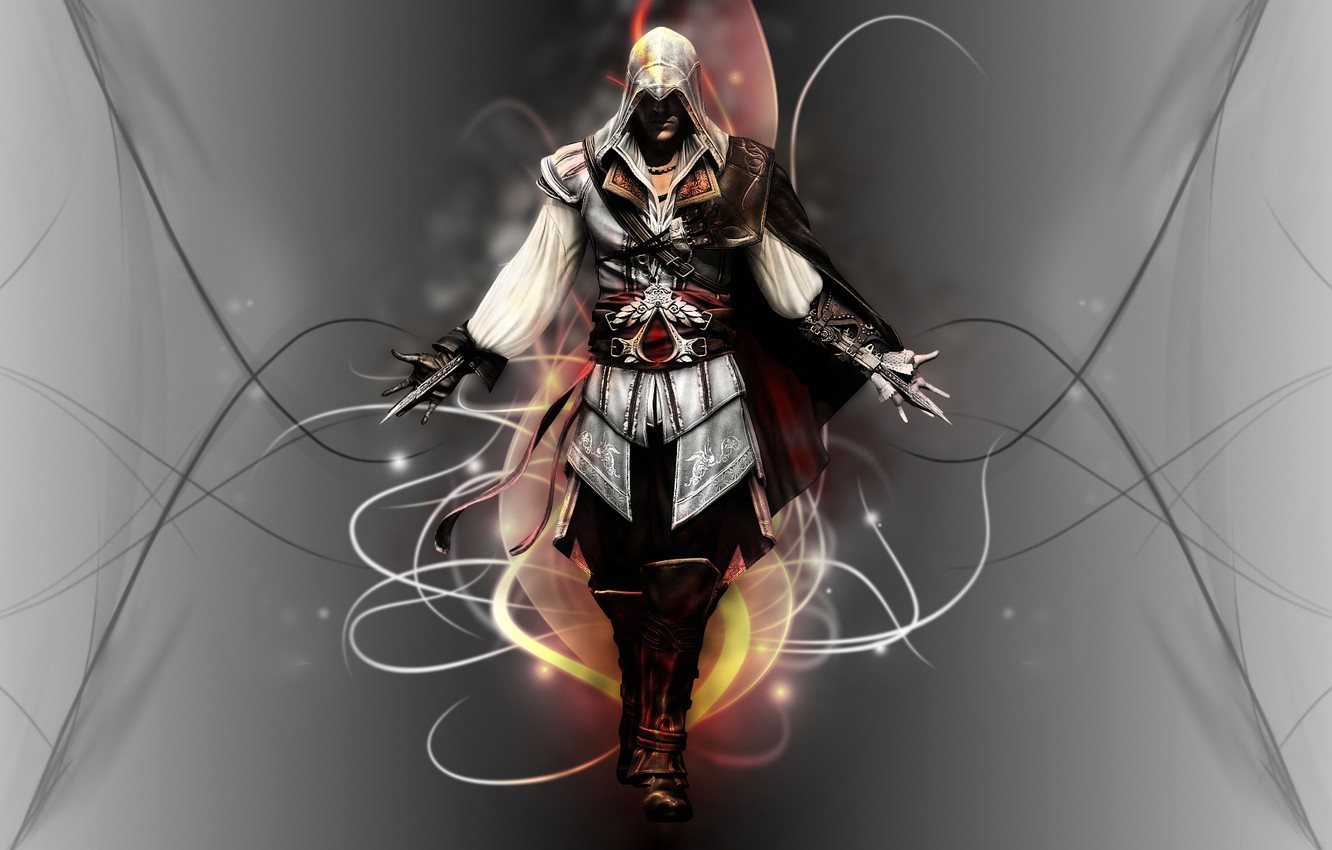 Wallpaper Line Killer Assassin Assassin Ezio Auditore Da