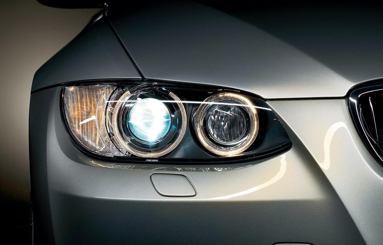 Photo wallpaper machine, lights, bmw, BMW
