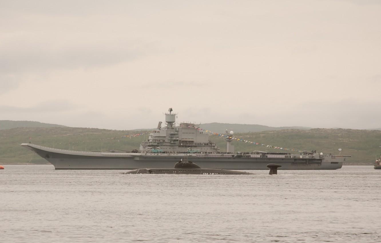 Photo wallpaper the carrier, Russia, Kuznetsov, Admiral