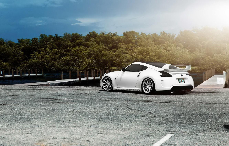 Wallpaper Car Tuning White Nissan Tuning Rechange Nissan 370z Images For Desktop Section Nissan Download