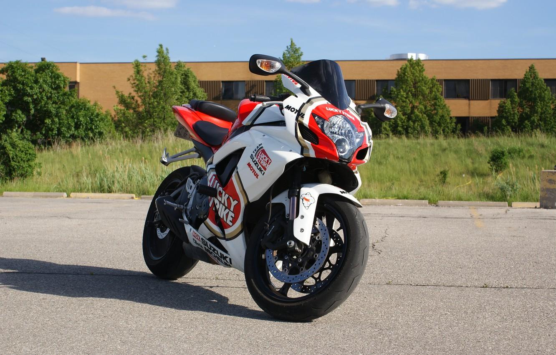 Photo wallpaper motorcycle, suzuki, bike, Suzuki, Supersport, gsx-r750, lucky strike, lucky strike