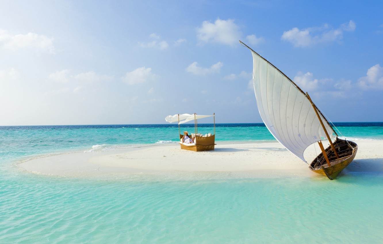 nature Water Landscape Tropical Island Beach White Sand Palm