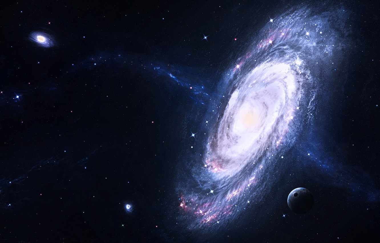 Wallpaper Stars Planets Stars Space Galaxy Galaxies Images For Desktop Section Kosmos Download