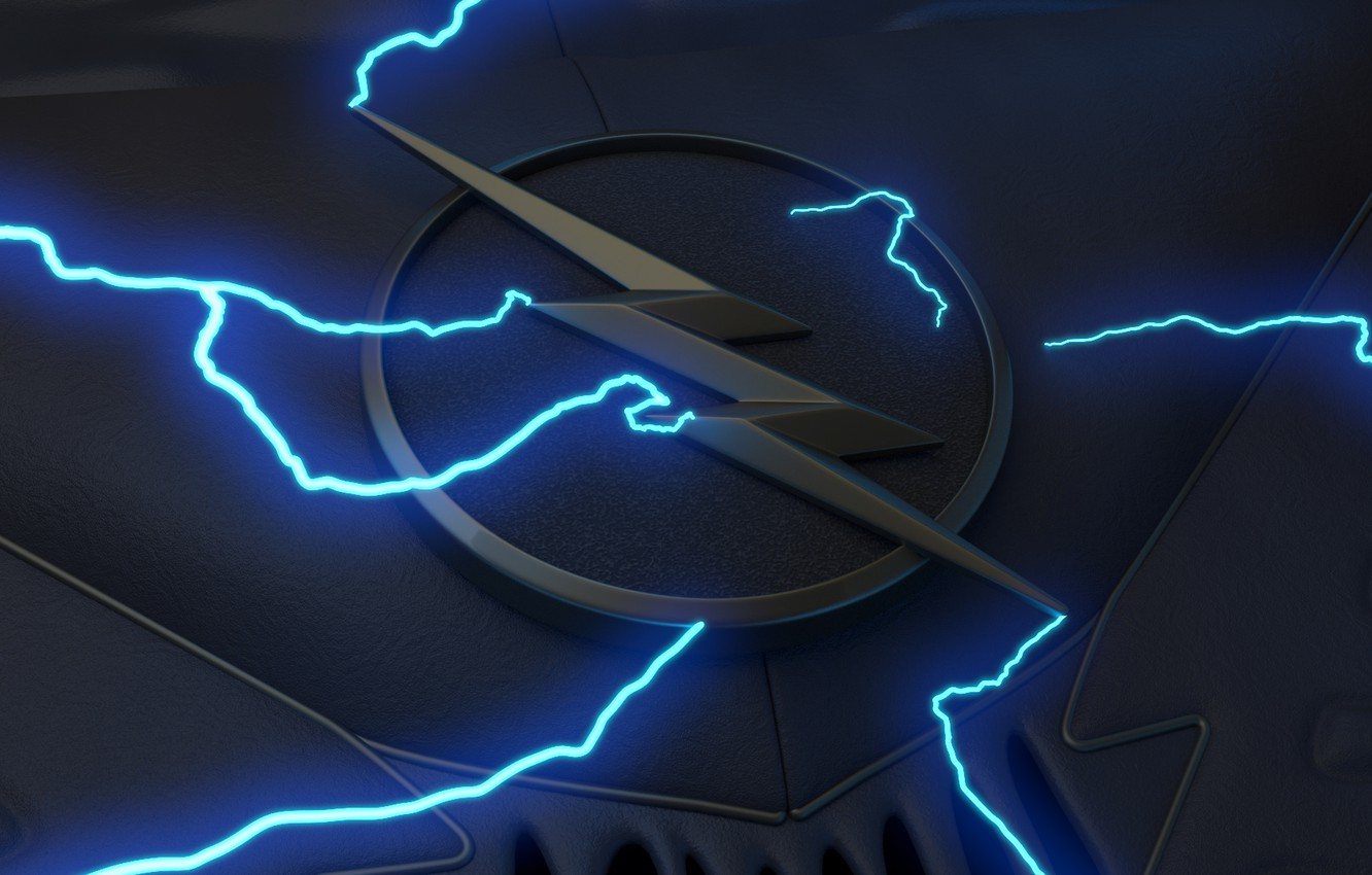 Wallpaper Logo Black Lightning Blue Symbol Comics Suit Serial Zoom Television The Flash Zolomon Hunter 2 Season Images For Desktop Section Minimalizm Download