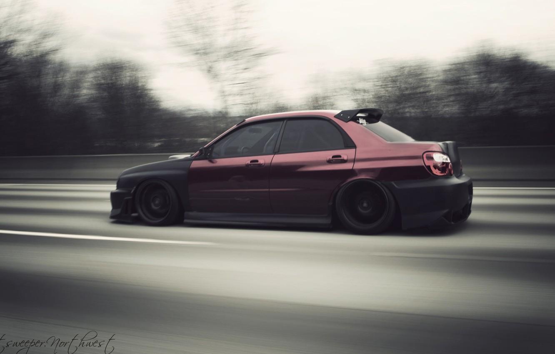 Photo wallpaper Subaru, Impreza, stance