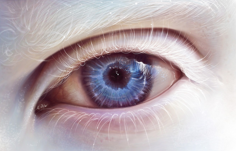 Photo wallpaper eyes, eyelashes, art, albino