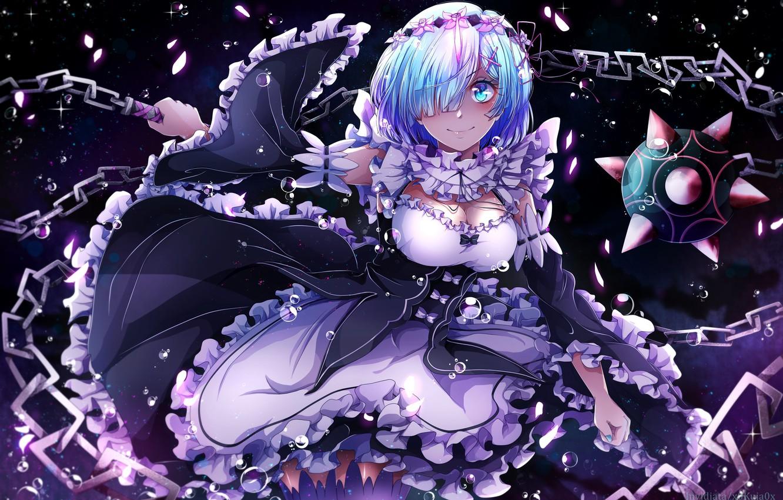 Photo wallpaper girl, the demon, anime, art, rem, re zero kara hajime chip isek or seikatsu