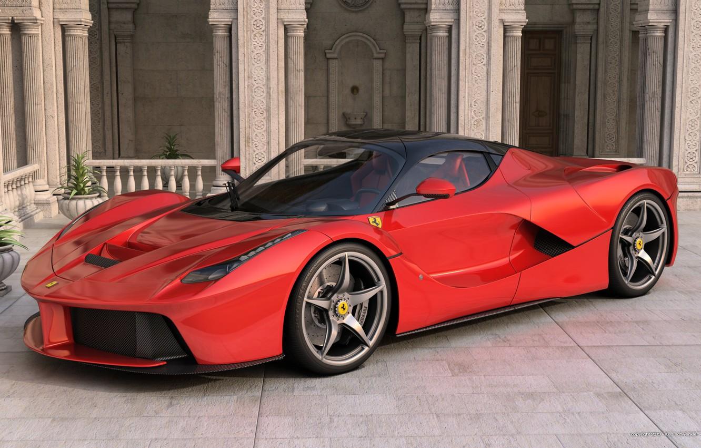 Photo wallpaper Auto, Red, Ferrari, Ferrari, Red, Car, Supercar, Supercar, LaFerrari, The laferrari