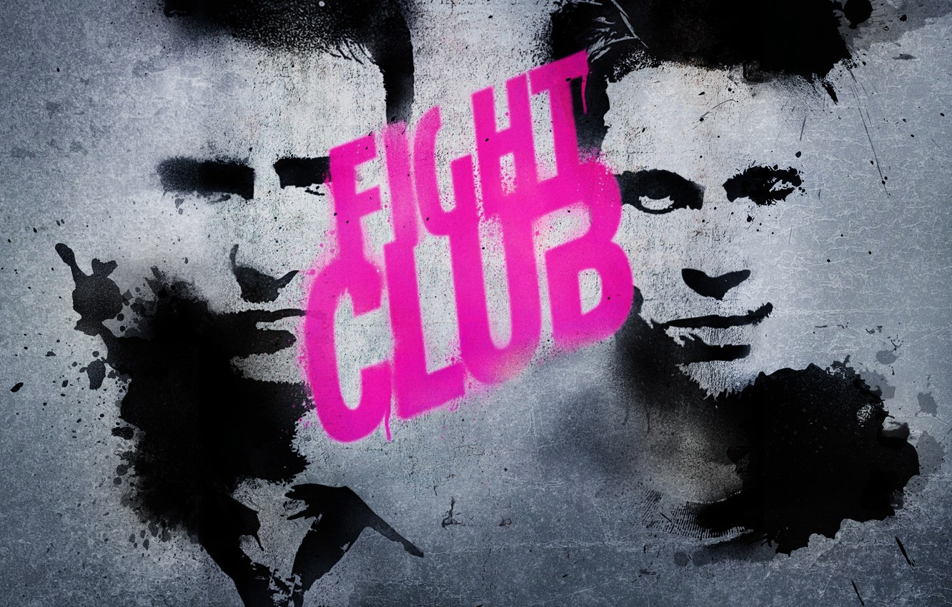Wallpaper Edward Norton Brad Pitt Fight Club Fight Club