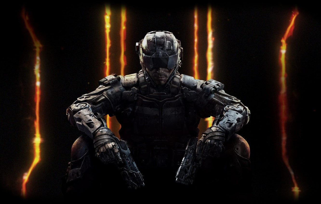 Photo wallpaper weapons, guns, soldiers, helmet, armor, iron, Treyarch, Activision Publishing, Call of Duty: Black Ops 3