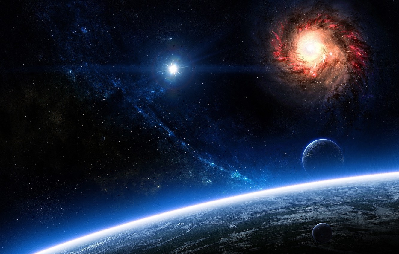 Photo wallpaper space, cosmos, planets, galaxies, sci fi