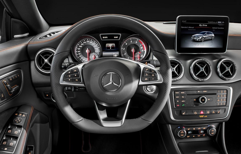 Photo wallpaper Mercedes Benz, AMG, Sports, 4MATIC, 2015, CLA250, OrangeArt