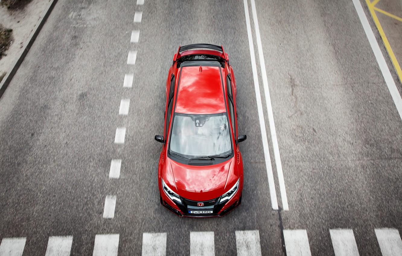 Photo wallpaper Honda, Honda, Civic, civici, Type R, 2015