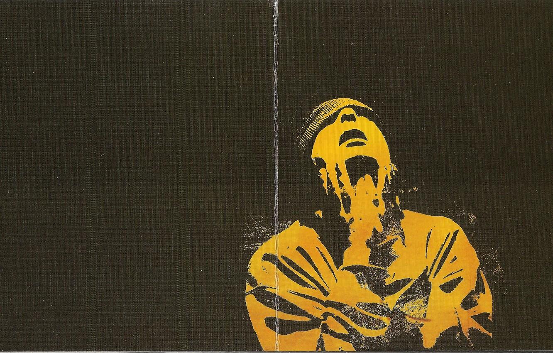 Photo wallpaper yellow, hat, black background, 2004, Smoky Mo, Karate, Booklet