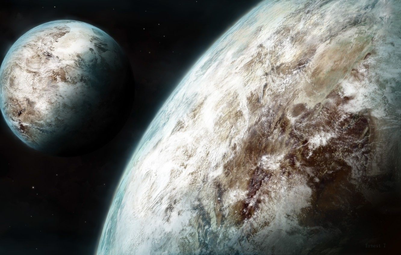Photo wallpaper Space, Planet, Space