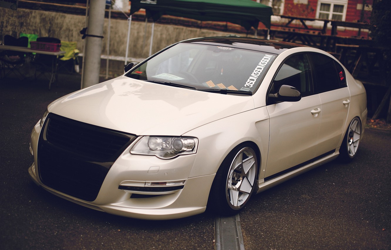 Photo wallpaper white, Volkswagen, Passat B6