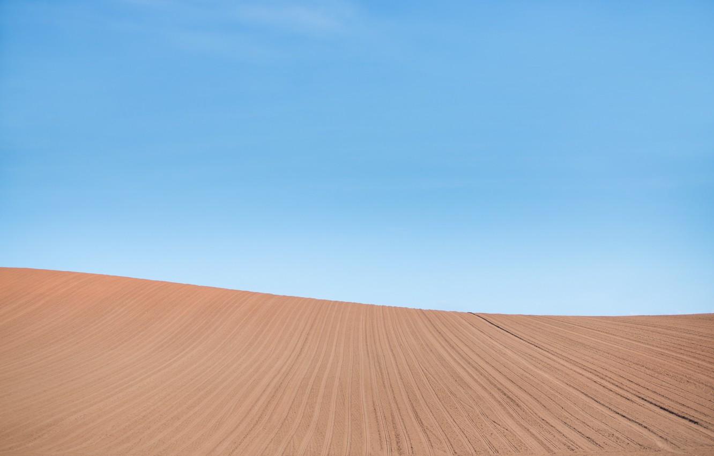 Photo wallpaper field, the sky, landscape