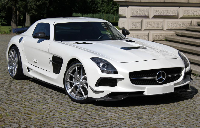 Photo wallpaper Mercedes-Benz, AMG, SLS, Black Series, Design by SGA Aerodynamics 2014, (C197)