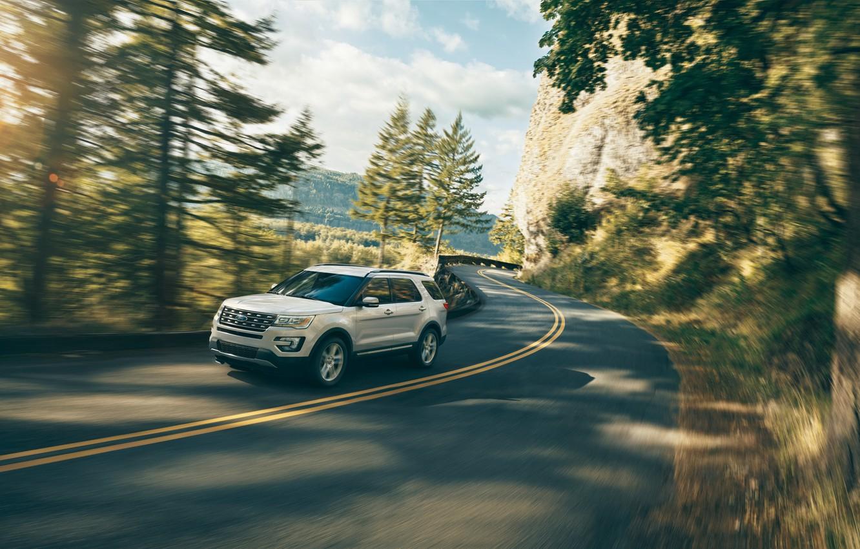 Photo wallpaper road, jeep, SUV, ford, explorer