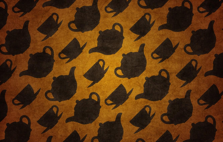 Photo wallpaper background, Wallpaper, texture, art, Cup, picture, tea kettles