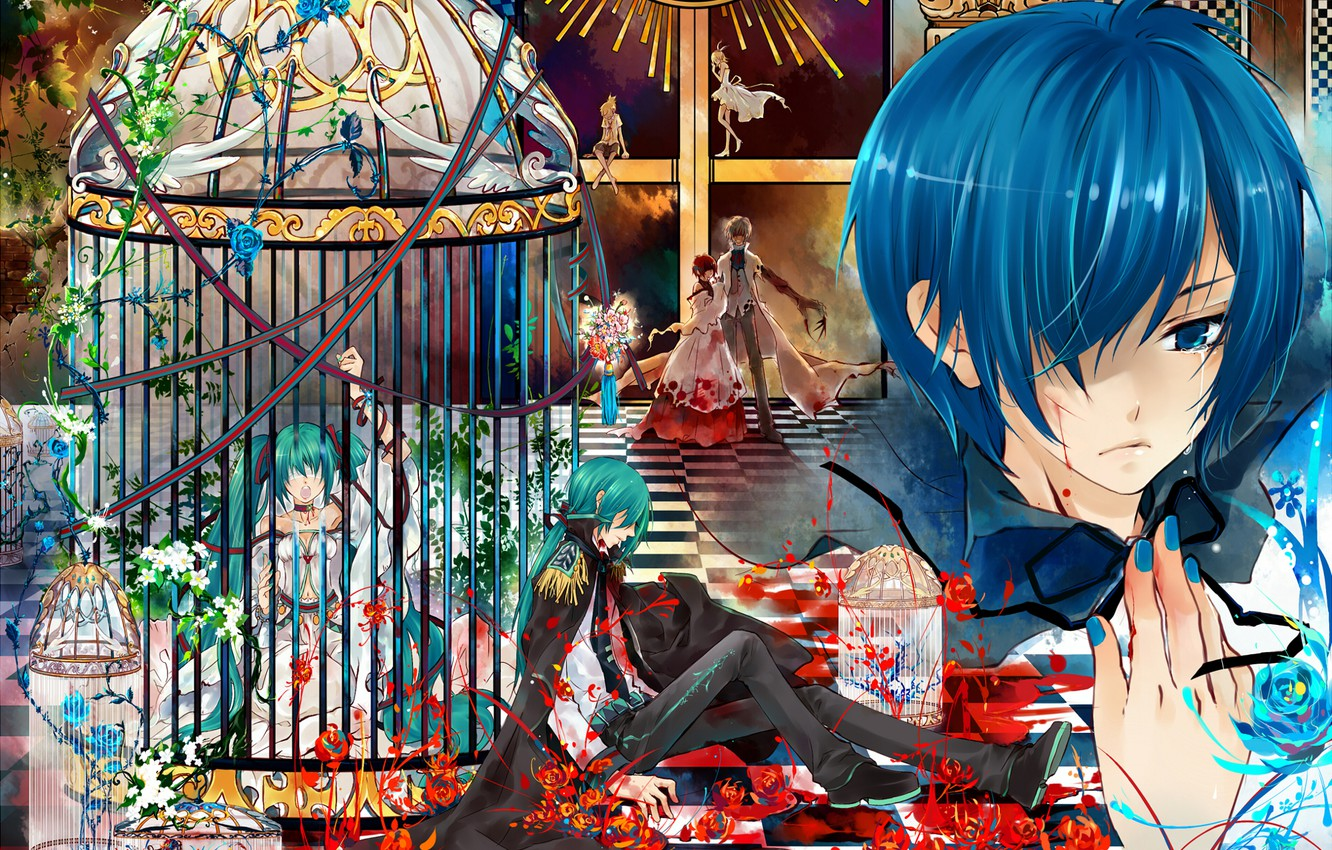 Photo wallpaper vocaloid, tears, Kaito