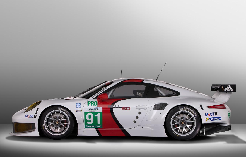 Photo wallpaper background, view, 911, Porsche, side, RSR, racing car