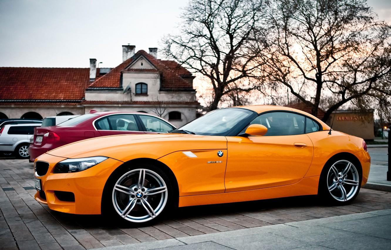 Photo wallpaper BMW, Orange, the beauty, drives