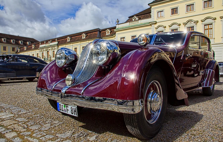 Photo wallpaper retro, classic, limousine, In 1932, Röhr 8F sedan, Röhr 8