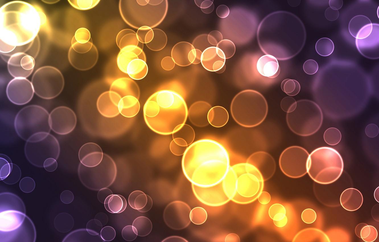 Photo wallpaper circles, abstract, glow
