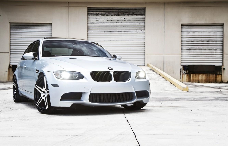 Photo wallpaper white, lights, BMW, BMW, the MDGs, CRT